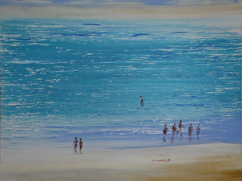 beach-izik-lambez-2011-acrylic-on-canvas-140-170-cm