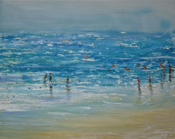 beach-izik-lambez-2013-acrylic-on-canvas-85-65-cm