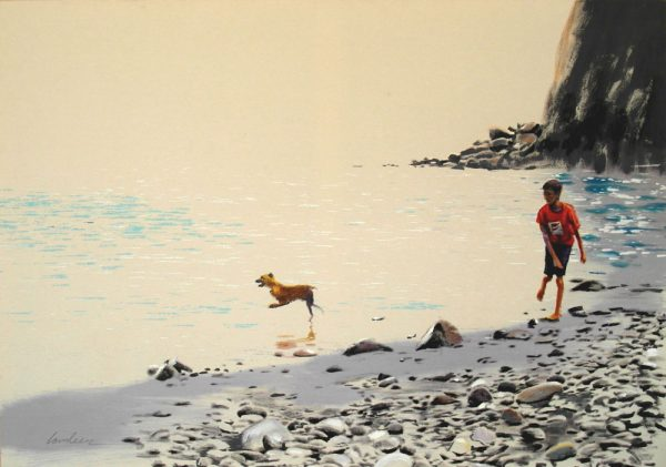 boy-and-dog-izik-lambez-2014-acrylic-on-canvas-170-130-cm