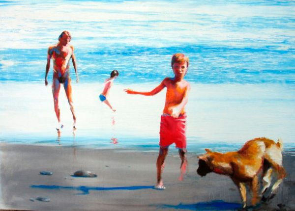 en-la-playa-izik-lambez-2012-acrylic-195-135-cm
