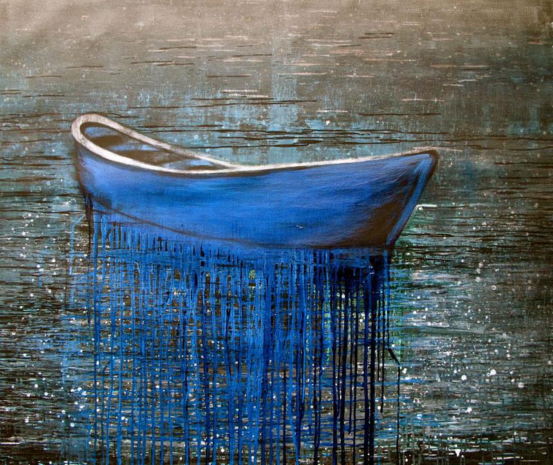 blue-boat-izik-lambez-2011-acrylic-on-canvas-150-170-cm