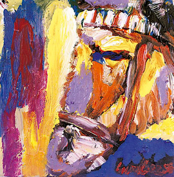 donkey-1999-acrylic-on-canvas-40-40-cm