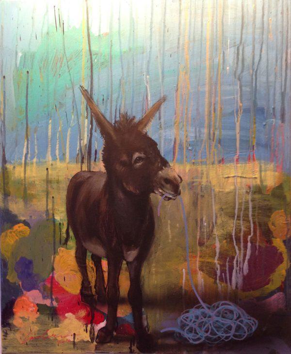 donkey-izik-lambez-2016-acrylic-on-canvas-60-50-cm