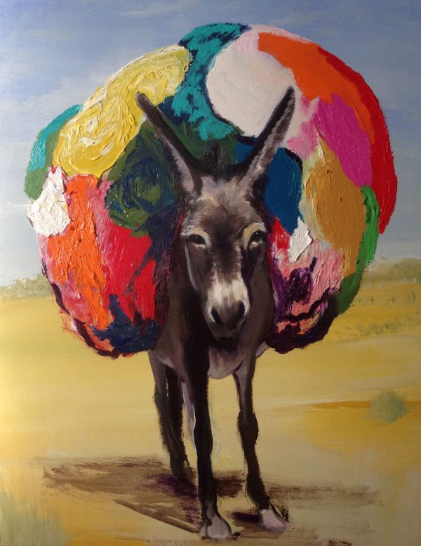 donkey-izik-lambez-2016-acrylic-on-canvas-90-70-cm