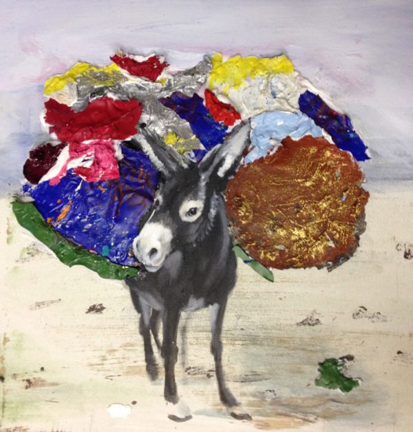 donkey-with-load-izik-lambez-2015-acrylic-on-canvas-50-60-cm