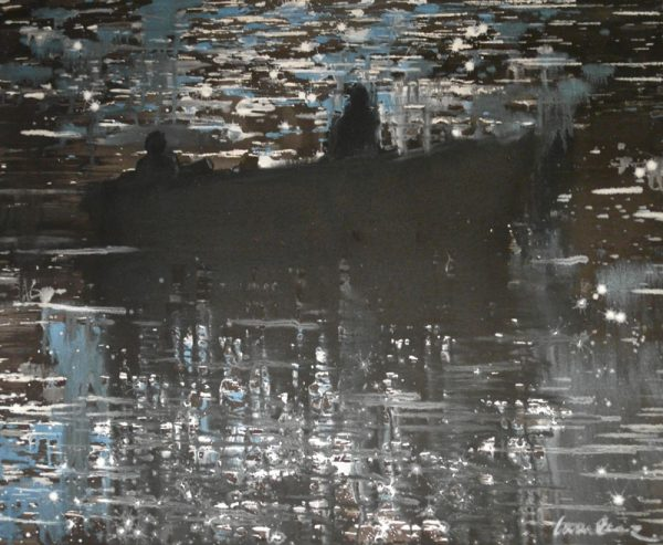 fishermen-at-night-izik-lambez-2011-acrylic-on-canvas-60-80-cm