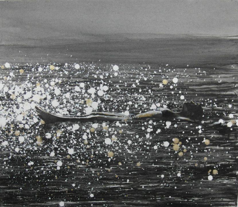 floating-izik-lambez-2014-acrylic-on-canvas-50-60-cm
