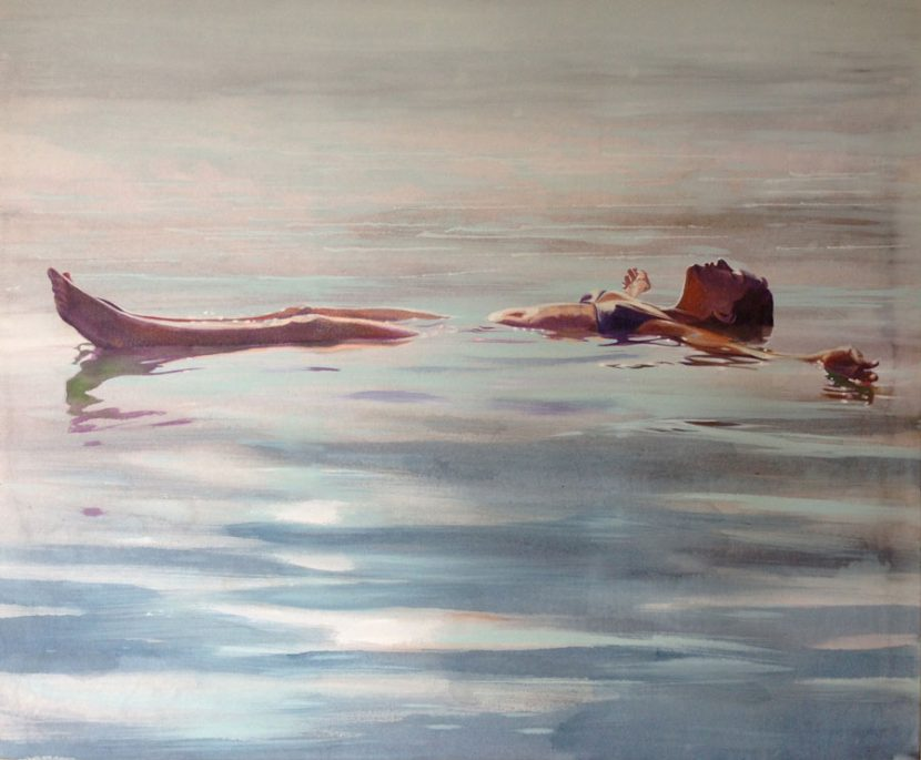 floating-izik-lambez-2015-acrylic-on-canvas-80-120-cm