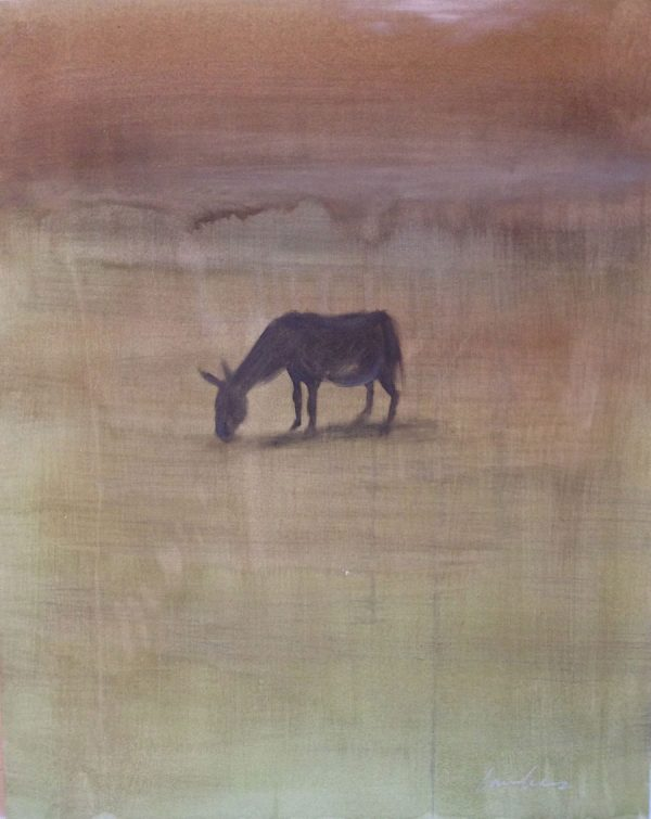 lonely-donkey-izik-lambez-2016-acrylic-on-canvas-90-70-cm
