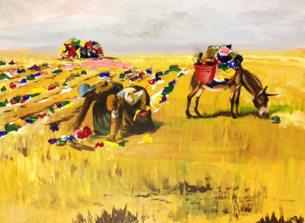 the-gleaners-with-donkey-acrylic-on-canvas-80-120-cm