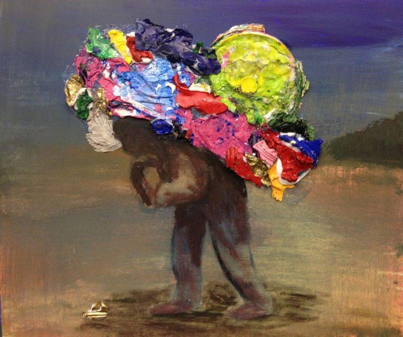 the-greedy-person-izik-lambez-2015-acrylic-on-canvas-55-65-cm