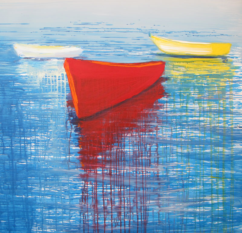 three-boats-izik-lambez-2011-acrylic-on-canvas120-115-cm